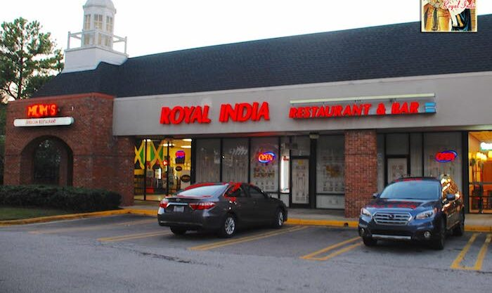 Exterior of Royal India Restaurant in Raleigh, NC