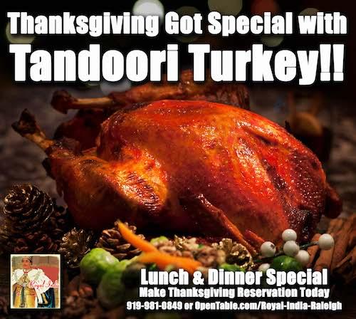 Tandoori Style Turkey displayed in a tray
