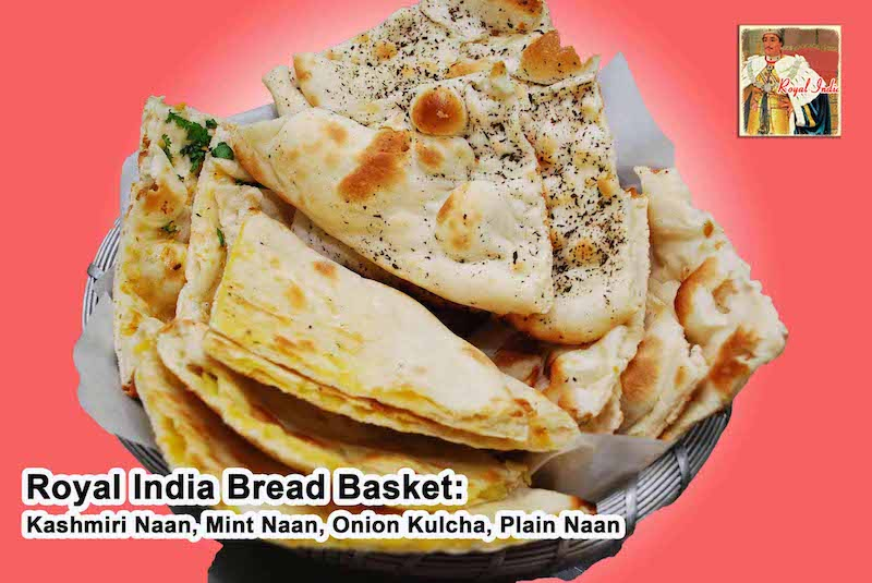 Indian breads offered at Royal Indian restaurant in Raleigh